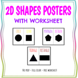 Shapes Posters With Worksheets