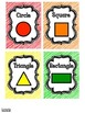 Shapes Posters and Flash Cards FREEBIE