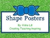 Shapes Posters for Kindergarten