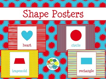Shapes Posters in Primary Color Theme