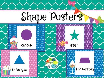 Shapes Posters in Candy Shop Theme