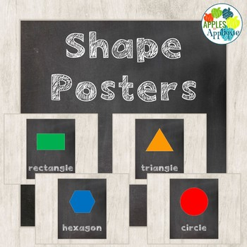 Shapes Posters in Chalkboard Theme