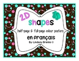 Shapes Posters in French: Les formes