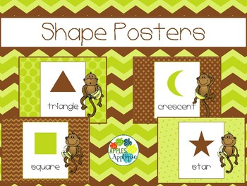 Shapes Posters in Monkey Theme