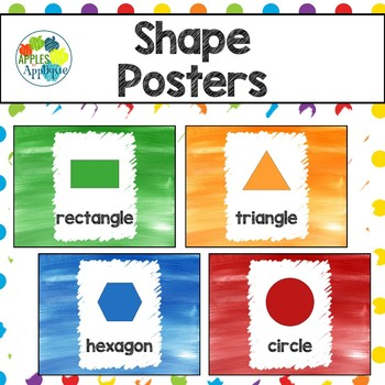 Shapes Posters in Rainbow Theme