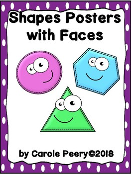 Shapes Posters with Faces
