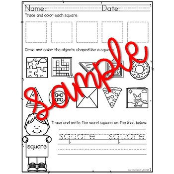 Shape Practice Pages For Little Learners (72+ pages!)