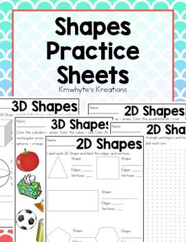 Shapes Practice Sheets & Quizzes