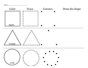 Shapes Practice Worksheets