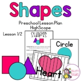 Shapes Preschool (Highscope) Lesson -Lesson 1 of 2