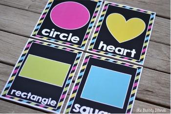 Shape Posters-  {Black & Bright/White & Bright}
