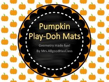 Shape Pumpkin Play-Doh Mats Geometry