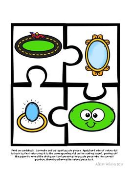 Shapes Puzzles Task Box Activity