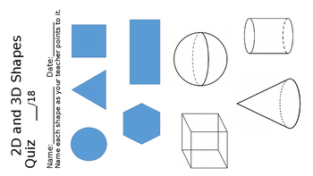 Shapes Quiz 2D and 3D