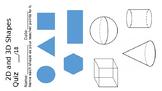 Shapes Quiz 2D and 3D