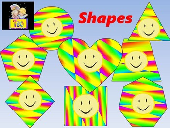 Shapes - Rainbow - Clip Art - Back to school