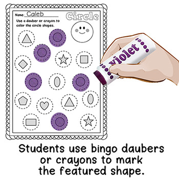 Shapes Recognition Worksheets Dab A Dot - FREE