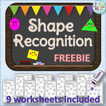 Shapes - Recognition Worksheets FREE