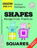 Shapes Recognition Practice: Squares