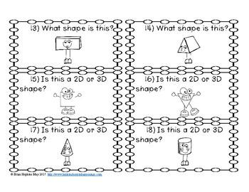 Shapes Recognition Task Cards