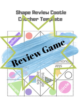 Shapes Review Cootie Catcher Template (Gogokid)