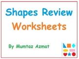 Shapes Review Worksheets for Kindergarten :
