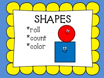 Shapes-Roll, Count, Color