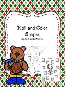 Shapes Roll and Color - for December and January