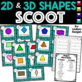 Shapes SCOOT - 2D and 3d Shapes Write the Room Activity