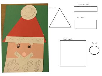 Santa Shapes Craft