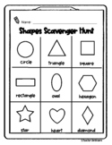 Shapes Scavenger Hunt