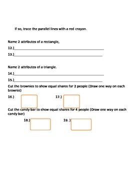 Shapes, Shape Attributes, and Equal Shares Assessment