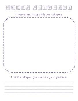 Shapes - Shape Shifter Drawing Sheet