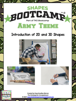 Shapes!  Shapes Bootcamp!  A 2d And 3D Shapes Unit!