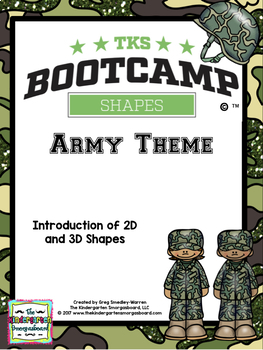 Shapes!  Shapes Bootcamp Army Theme!  A 2D And 3D Shapes Unit!