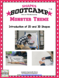 Shapes!  Shapes Bootcamp Monster Theme!  A 2d And 3D Shapes Unit!