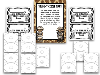 Shapes!  Shapes Bootcamp Safari Theme!  A 2d And 3D Shapes Unit!