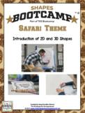 Shapes!  Shapes Bootcamp Safari Theme!  A 2d And 3D Shapes Unit!