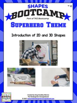 Shapes!  Shapes Bootcamp Superhero Theme!  A 2d And 3D Shapes Unit!