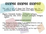 Shapes Shapes Shapes! Basic shapes and shape fractions