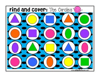 Shapes Shapes Shapes:  Identifying Shapes Find and Cover A
