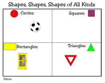 Shapes, Shapes,Shapes of All Kinds Plane Shapes Power Point Sort