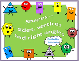 Shapes - Sides, Vertices and Right Angles