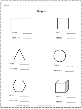Shapes- Sides and Vertices