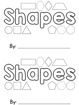 Shapes Sight Word Book