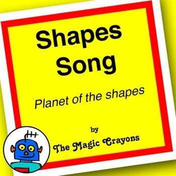 English Shapes Song 1 for ESL, EFL, Kindergarten. Circle, square, triangle, star