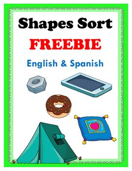 Shapes Sort FREEBIE: English & Spanish