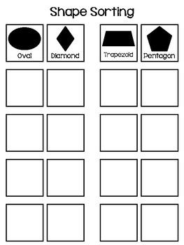 Shapes Sorting Interactive Board