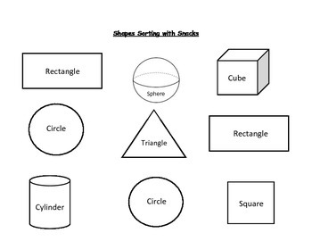 Shapes Sorting with Snacks