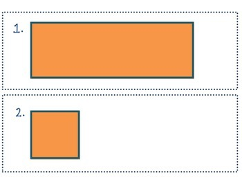 Shapes - Square and Rectangle Write the Room